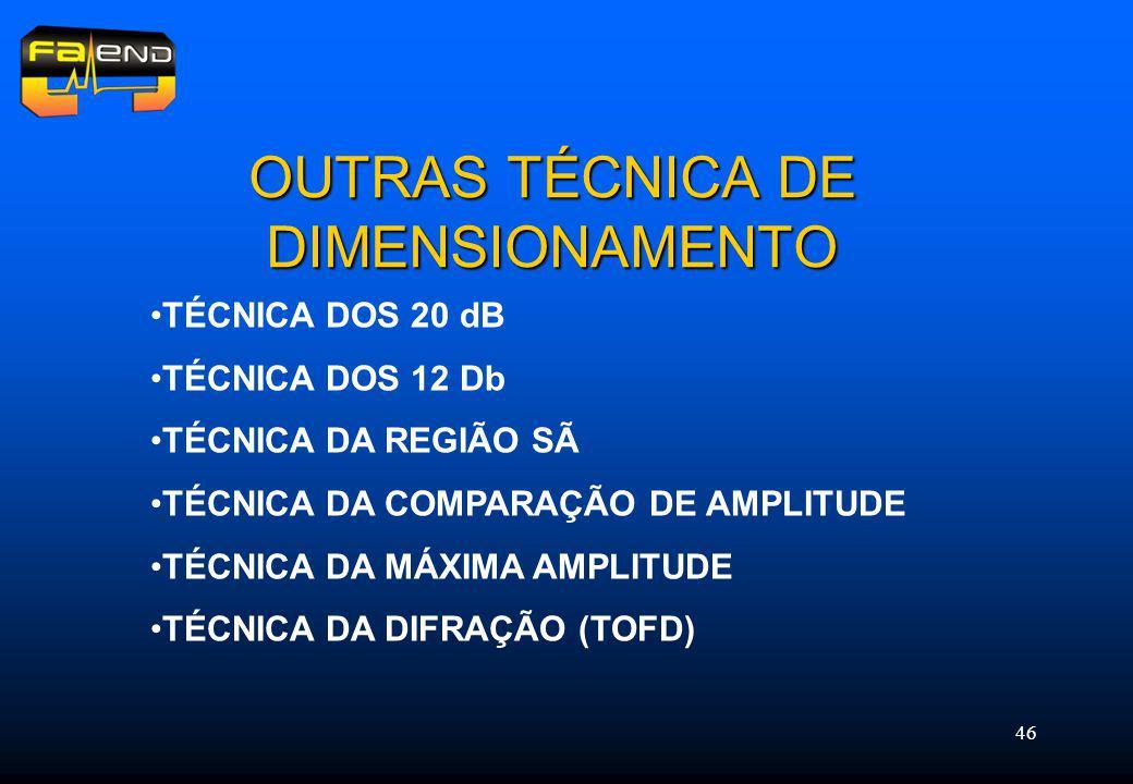 OUTRAS TÉCNICA DE DIMENSIONAMENTO