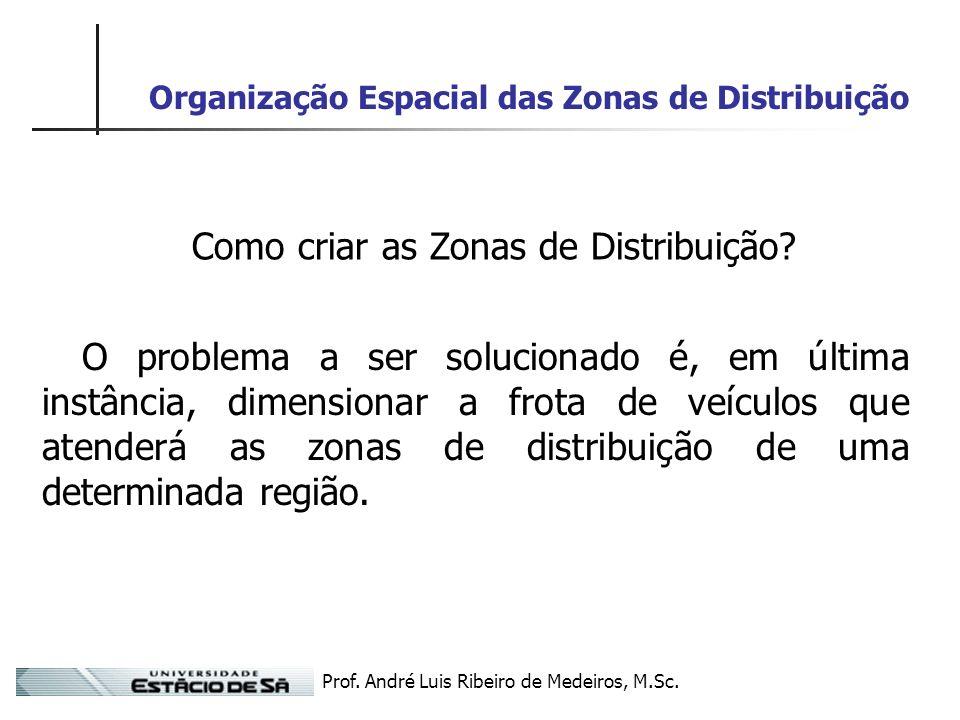 Organização Espacial das Zonas de Distribuição