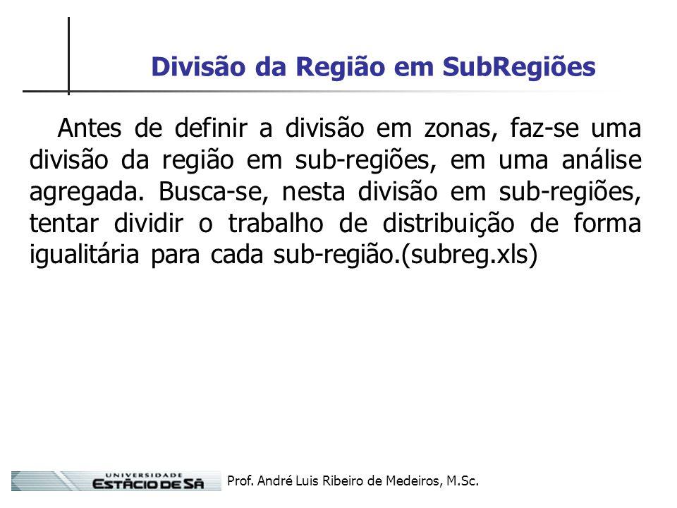Divisão da Região em SubRegiões