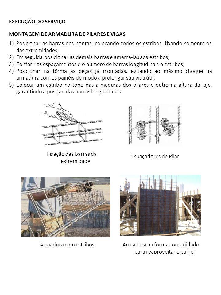 MONTAGEM DE ARMADURA DE PILARES E VIGAS