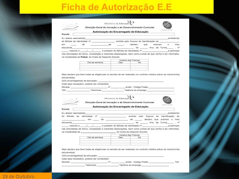 Ficha de Autorização E.E
