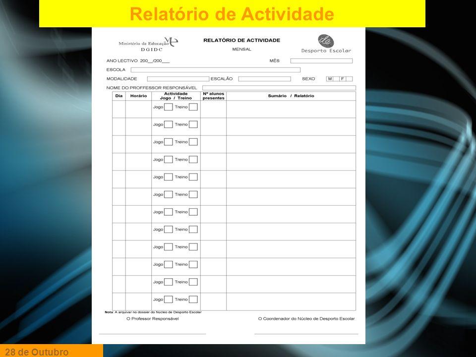 Relatório de Actividade