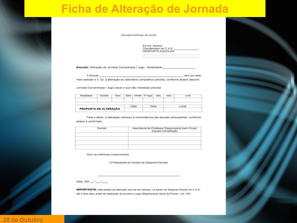 Ficha de Alteração de Jornada