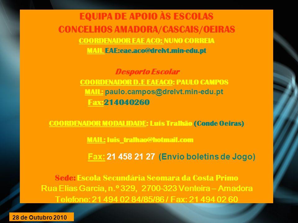 EQUIPA DE APOIO ÀS ESCOLAS CONCELHOS AMADORA/CASCAIS/OEIRAS