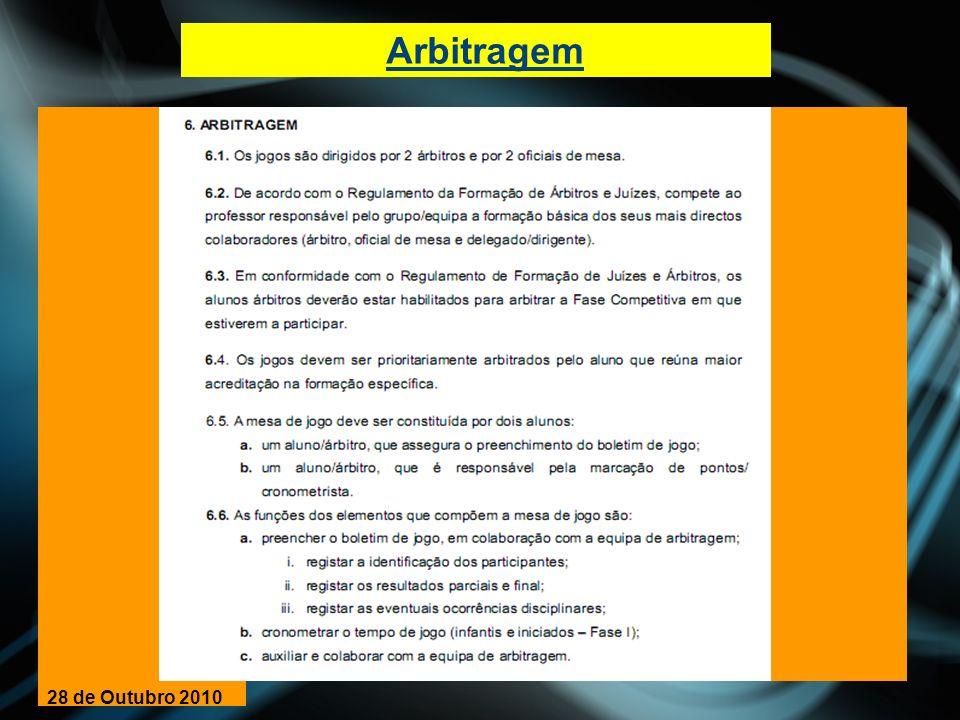 Arbitragem 28 de Outubro 2010