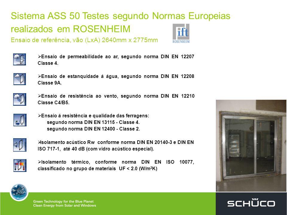 Sistema ASS 50 Testes segundo Normas Europeias realizados em ROSENHEIM