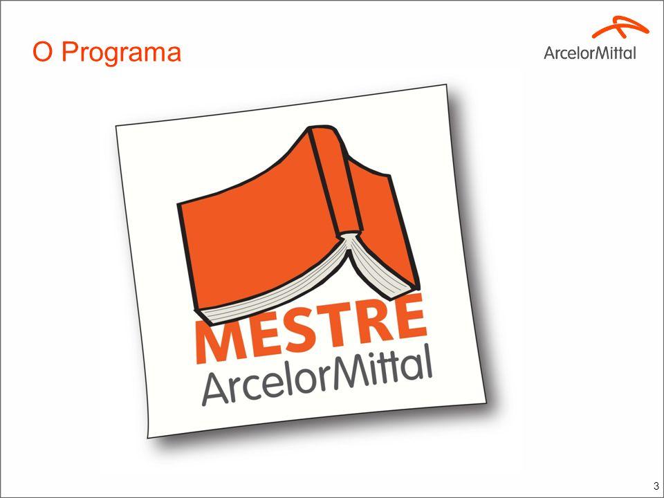 Histórico Ainda como Belgo, teve início em 2007 com patrocínio de curso profissionalizante para Mestre de Obra no SENAI – SP e na UNIUBE – MG.