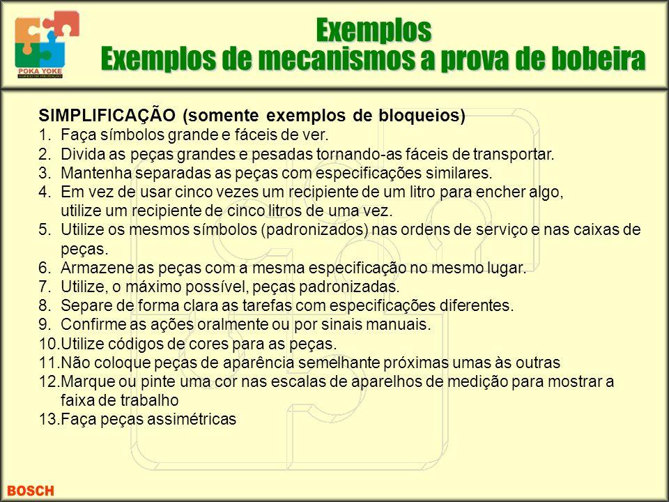 Exemplos Exemplos de mecanismos a prova de bobeira