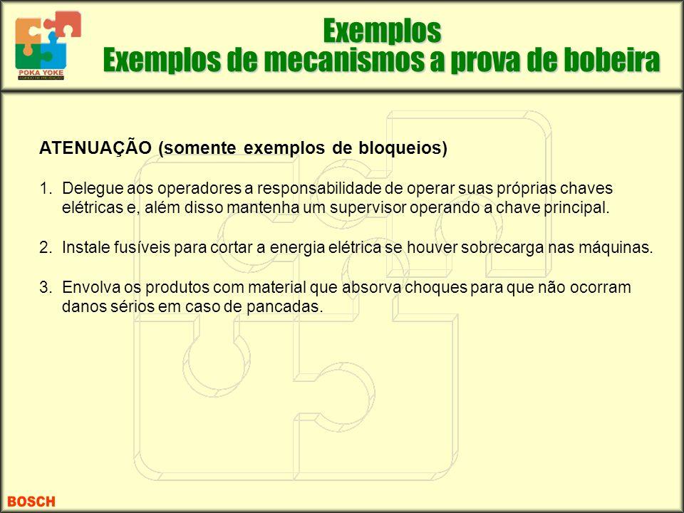 Exemplos de mecanismos a prova de bobeira