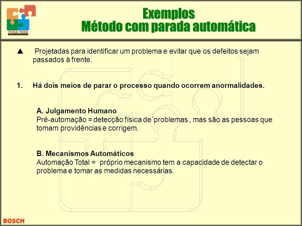 Exemplos Método com parada automática