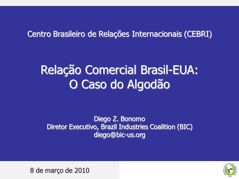 Relação Comercial Brasil-EUA: O Caso do Algodão