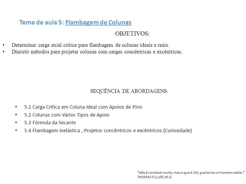 SEQUÊNCIA DE ABORDAGENS: