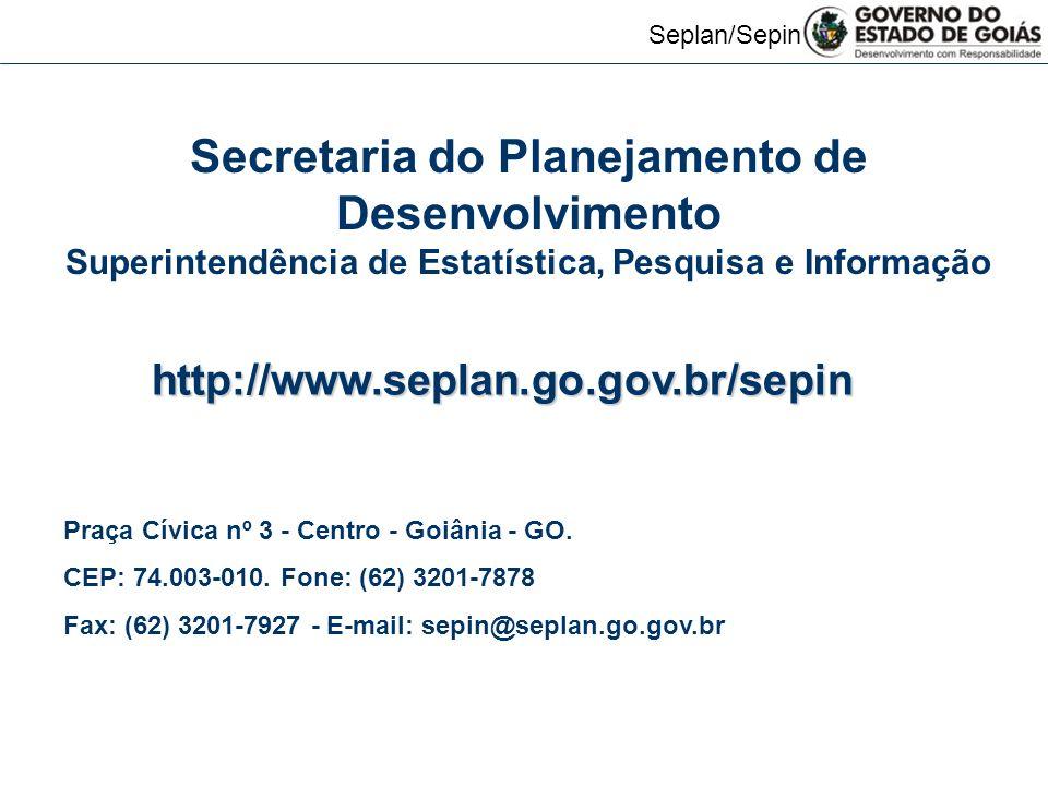 Secretaria do Planejamento de Desenvolvimento
