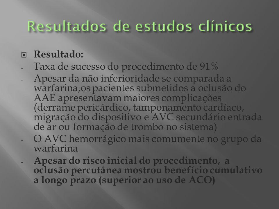 Resultados de estudos clínicos