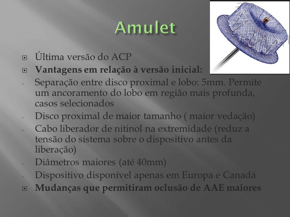 Amulet Última versão do ACP Vantagens em relação à versão inicial: