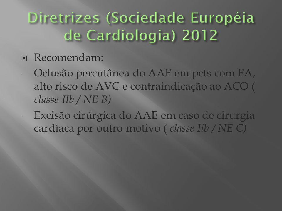 Diretrizes (Sociedade Européia de Cardiologia) 2012