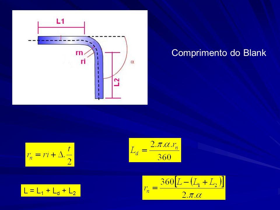 Comprimento do Blank L = L1 + Ld + L2