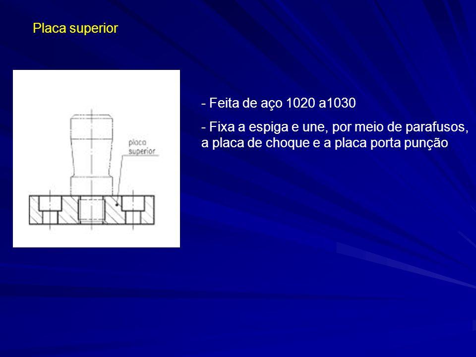 Placa superior Feita de aço 1020 a1030.
