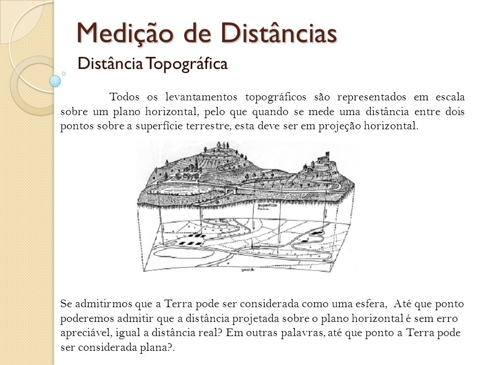 Distância Topográfica