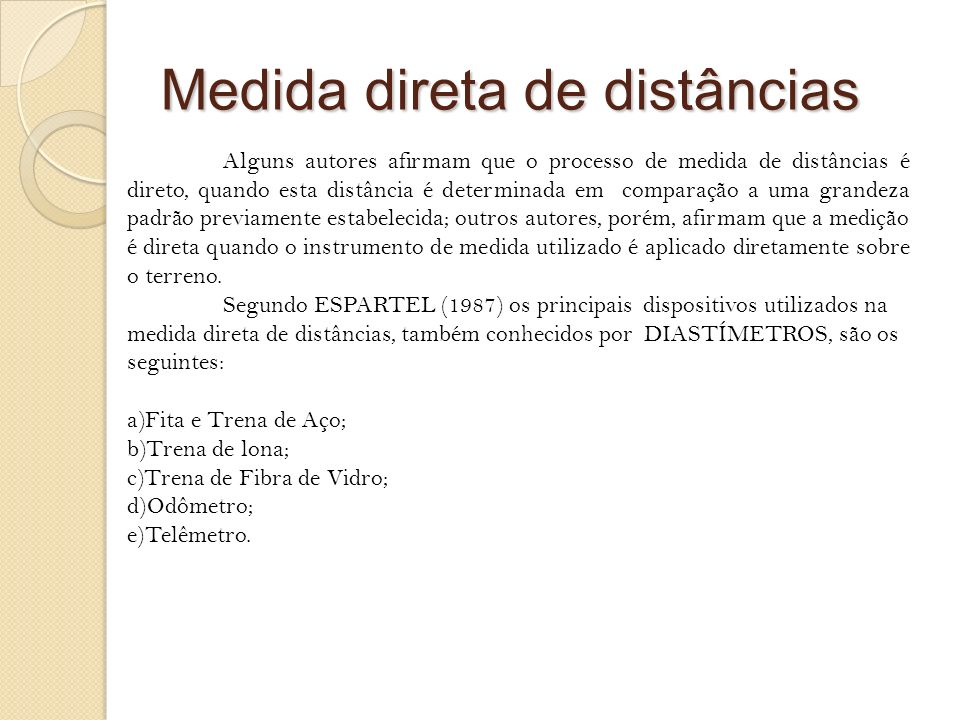Medida direta de distâncias