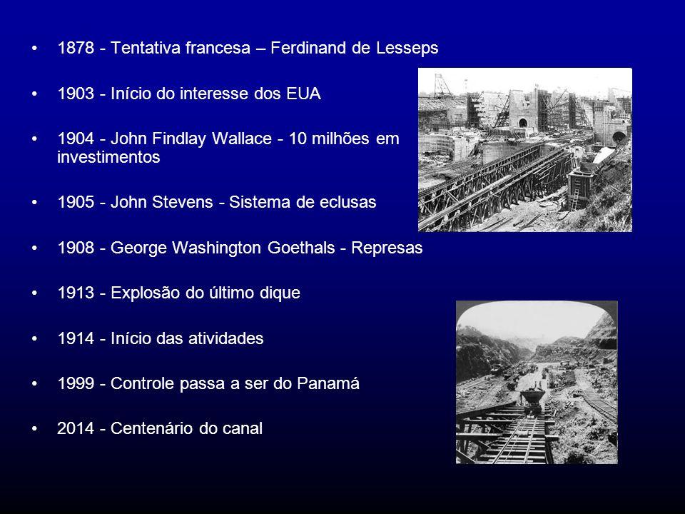 1878 - Tentativa francesa – Ferdinand de Lesseps