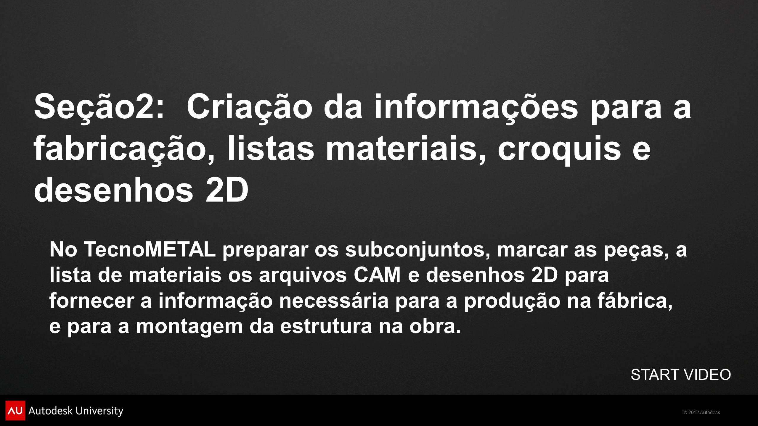 Seção2: Criação da informações para a fabricação, listas materiais, croquis e desenhos 2D