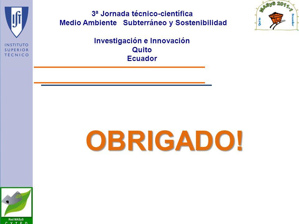 OBRIGADO! 3ª Jornada técnico-científica