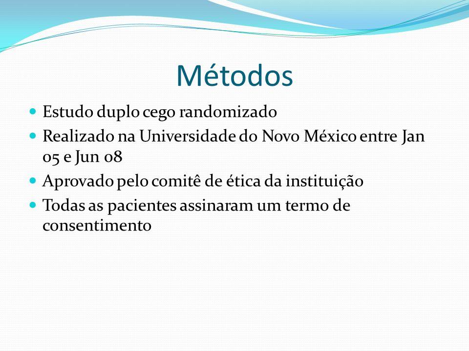 Métodos Estudo duplo cego randomizado
