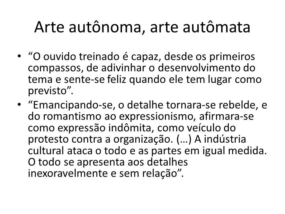 Arte autônoma, arte autômata
