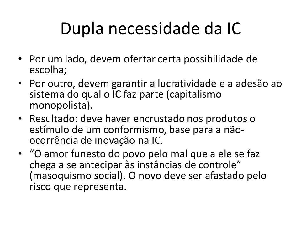 Dupla necessidade da IC