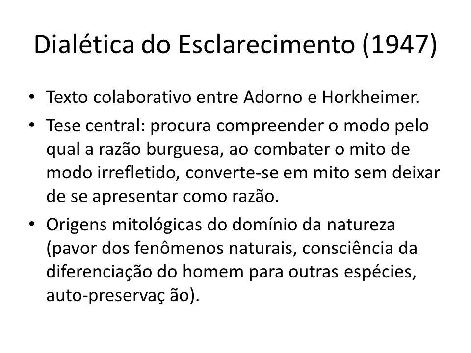 Dialética do Esclarecimento (1947)