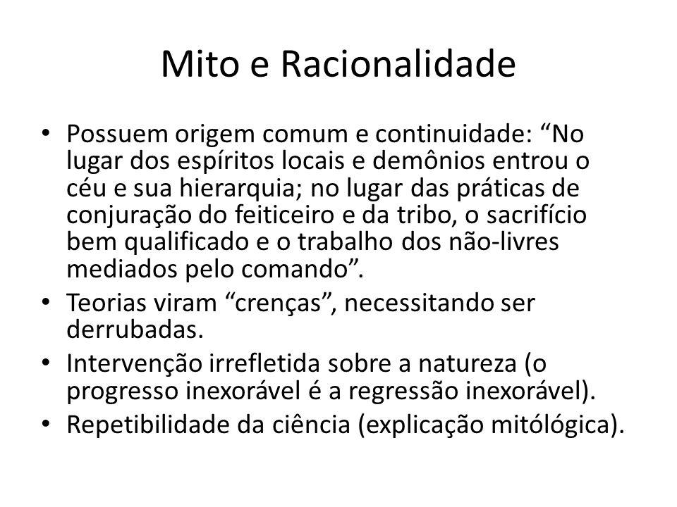 Mito e Racionalidade