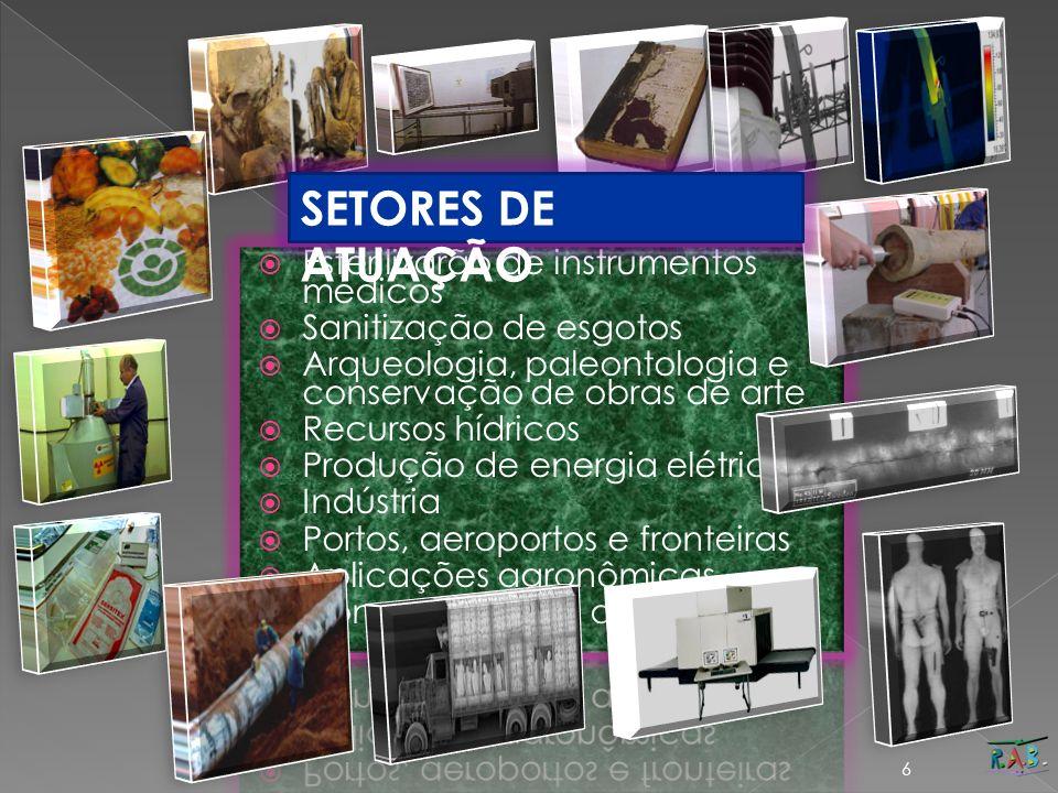 SETORES DE ATUAÇÃO Esterilizarão de instrumentos médicos