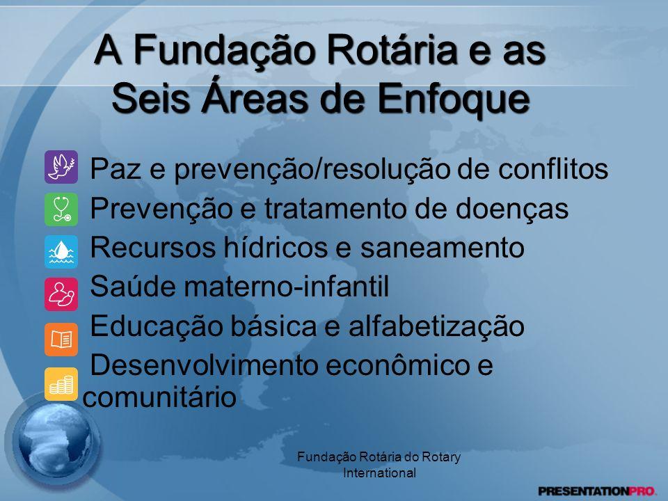 A Fundação Rotária e as Seis Áreas de Enfoque