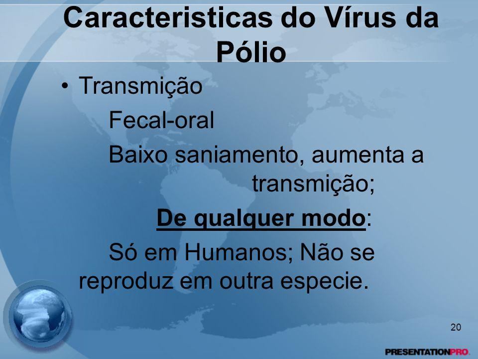 Caracteristicas do Vírus da Pólio