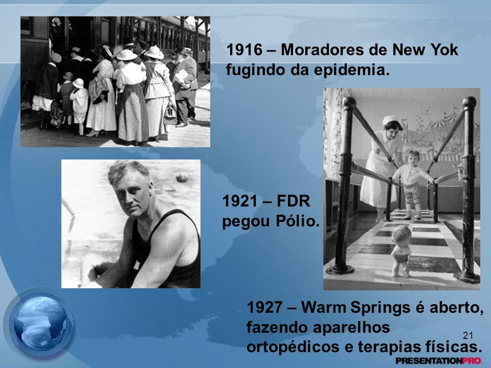 1916 – Moradores de New Yok fugindo da epidemia.