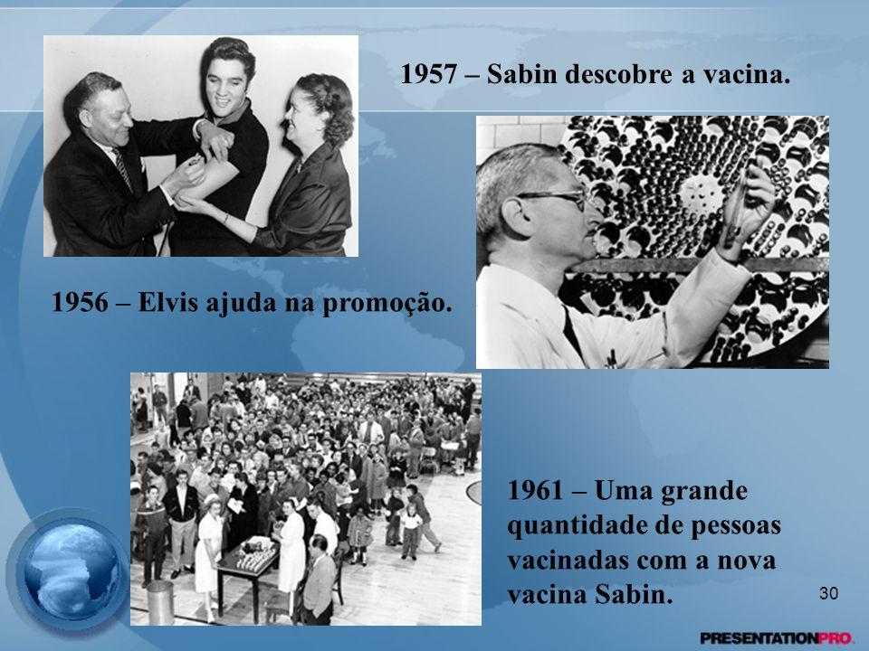 1957 – Sabin descobre a vacina.