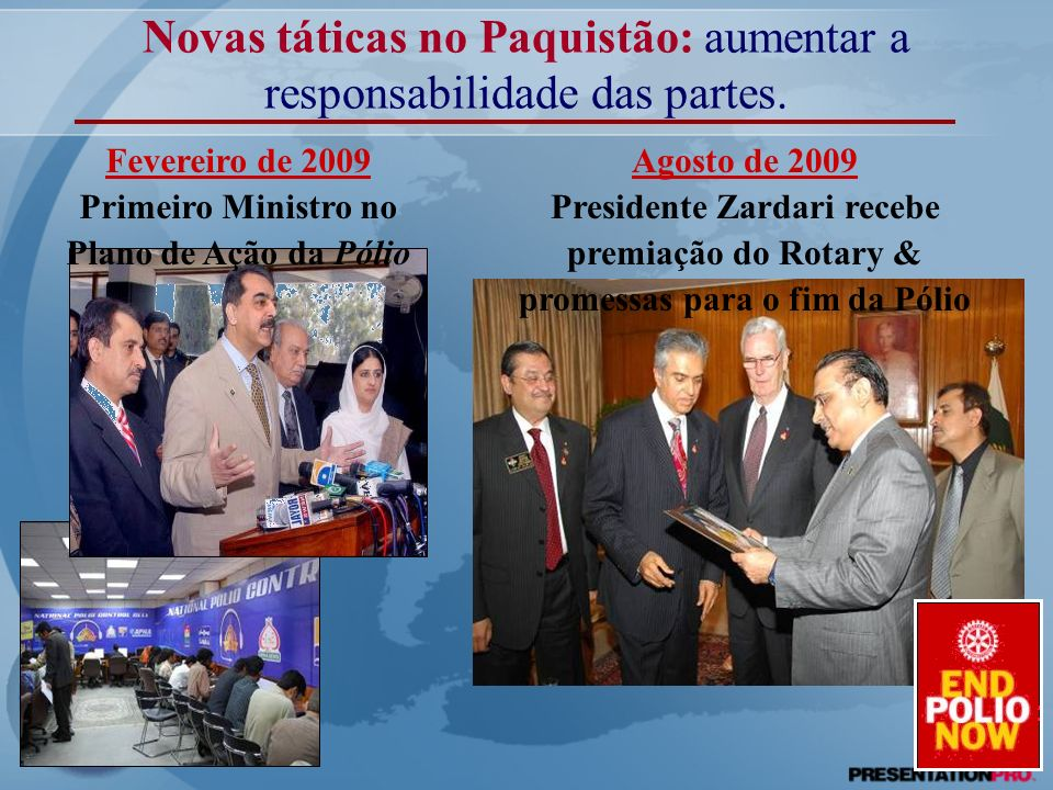 Primeiro Ministro no Plano de Ação da Pólio