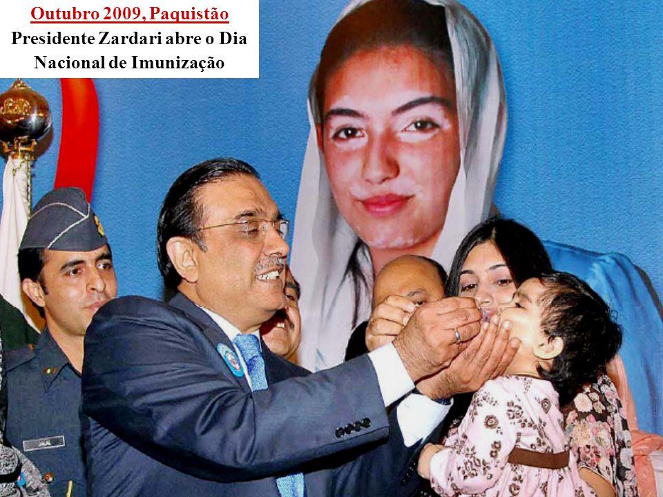 Presidente Zardari abre o Dia Nacional de Imunização