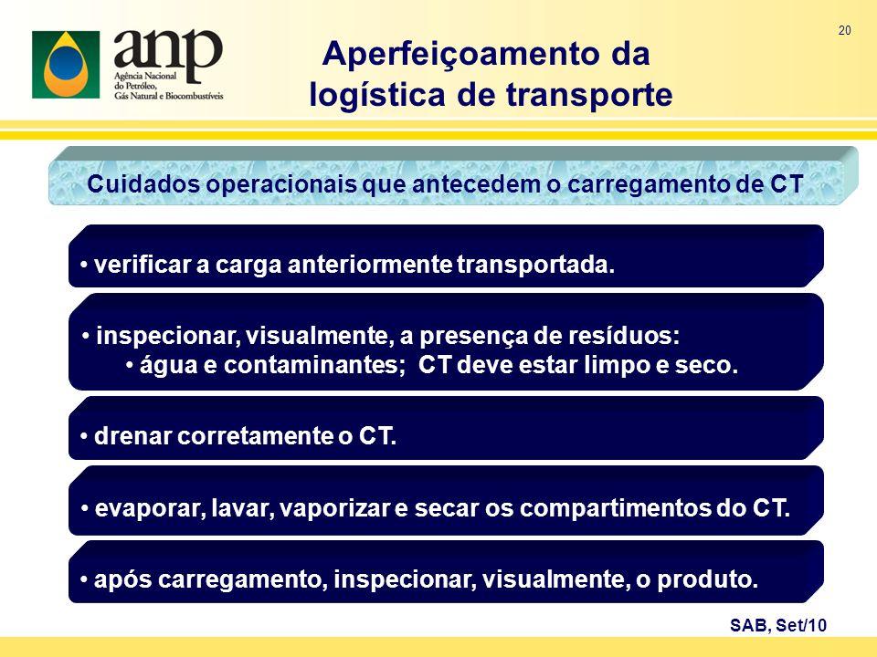 Aperfeiçoamento da logística de transporte
