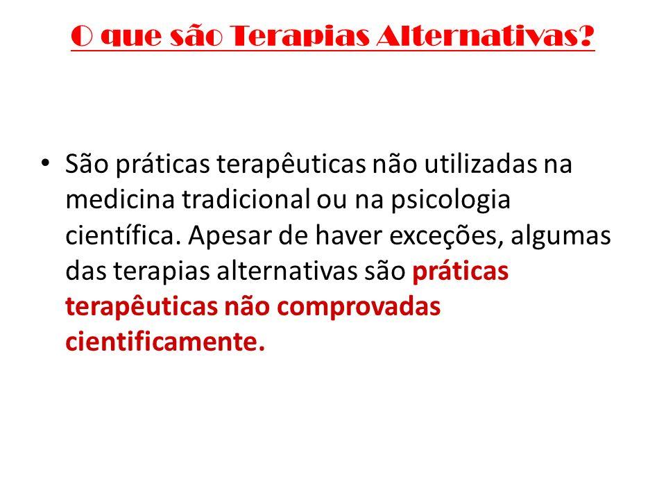 O que são Terapias Alternativas