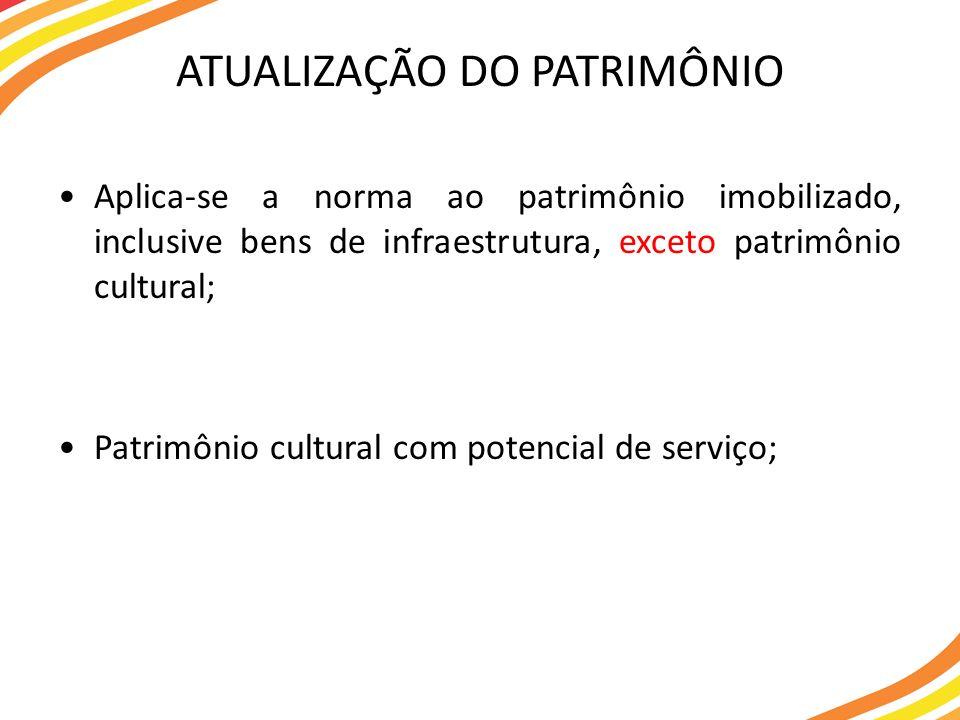 ATUALIZAÇÃO DO PATRIMÔNIO