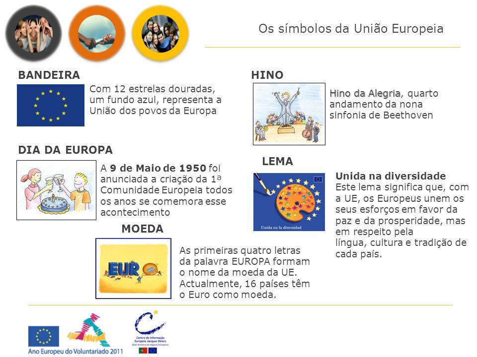 Os símbolos da União Europeia