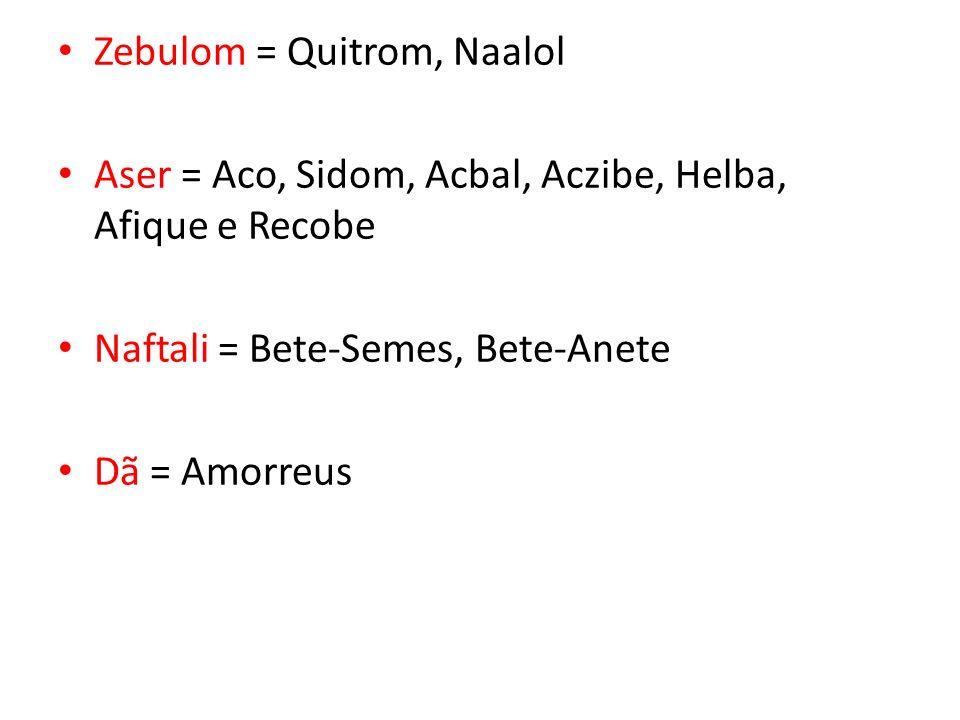 Zebulom = Quitrom, Naalol