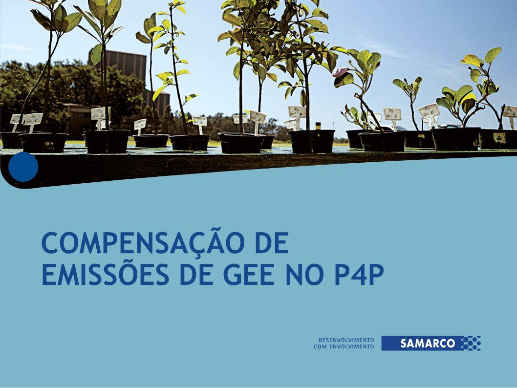 COMPENSAÇÃO DE EMISSÕES DE GEE NO P4P