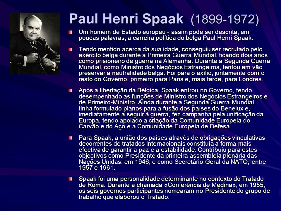 Paul Henri Spaak (1899-1972)
