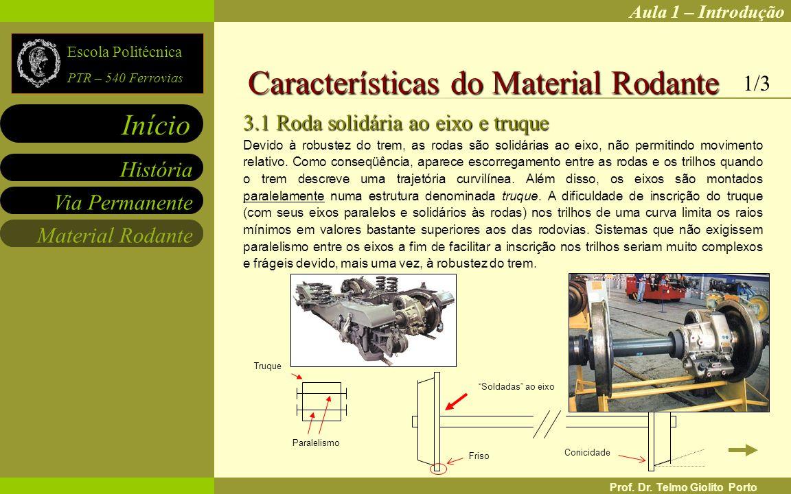 Características do Material Rodante