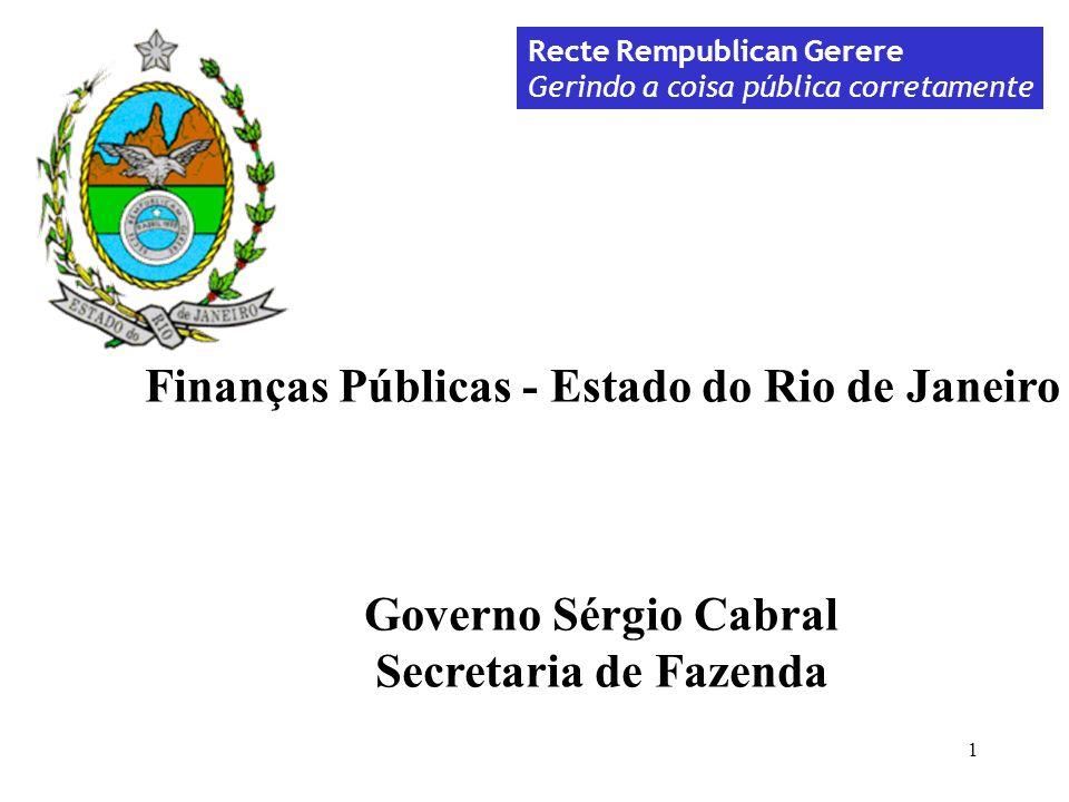 Finanças Públicas - Estado do Rio de Janeiro
