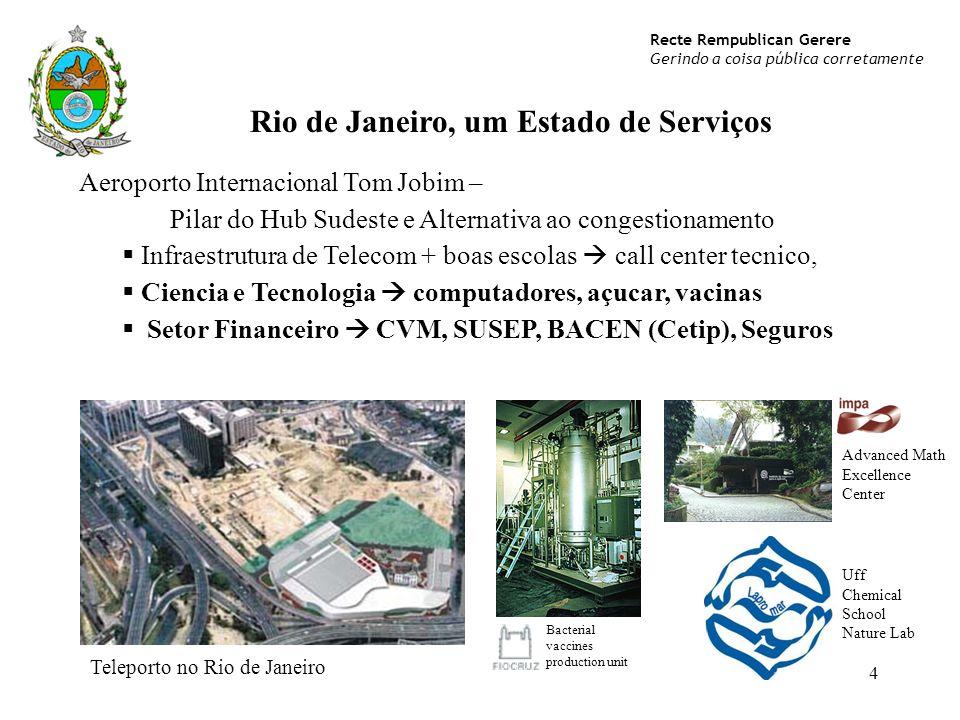 Rio de Janeiro, um Estado de Serviços