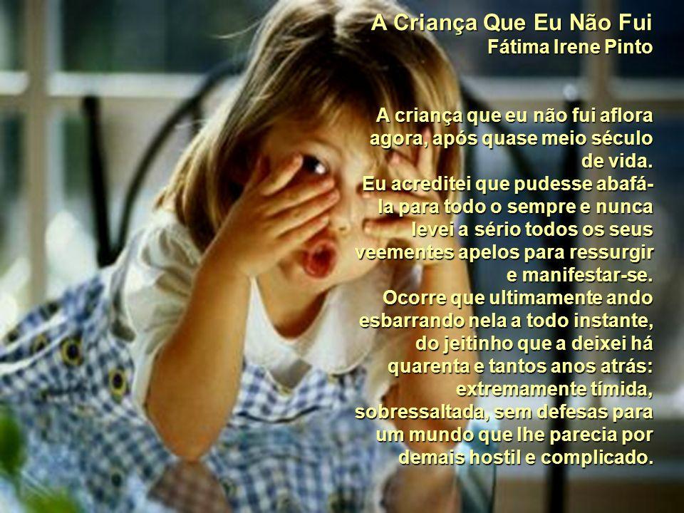 A Criança Que Eu Não Fui Fátima Irene Pinto